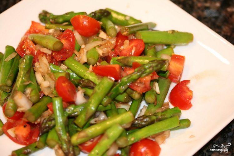 Cпаржа с овощами