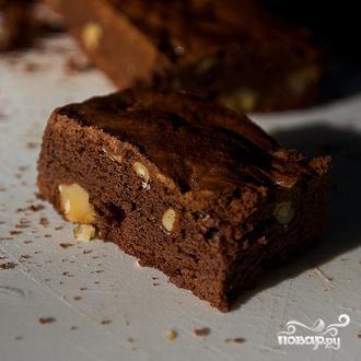 Шоколадные пирожные с грецкими орехами - фото шаг 5