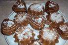 Бисквитные кексики в формочках