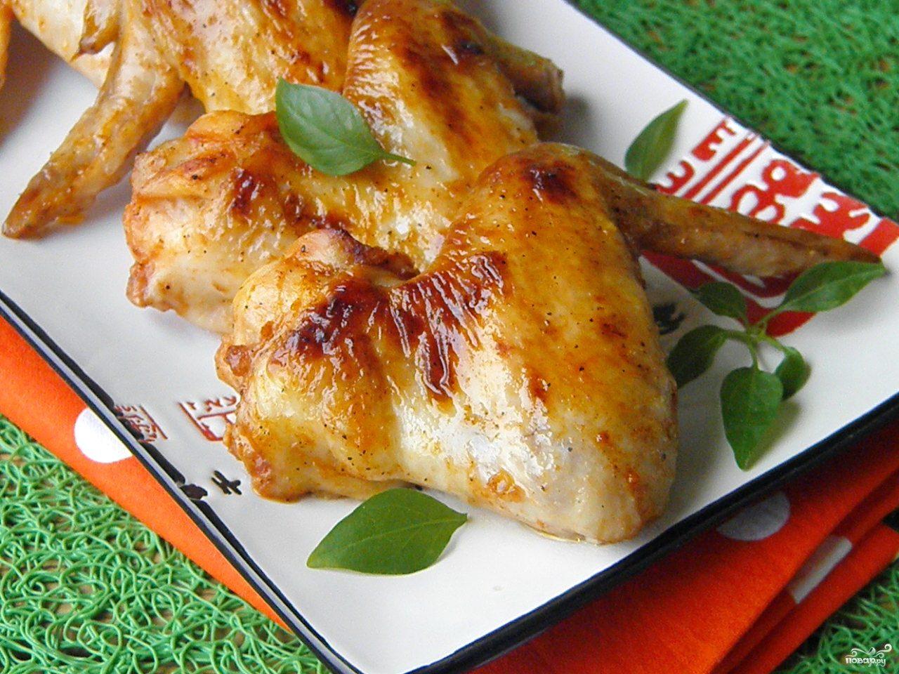 рецепт приготовления куриных крылышек в медовом соусе