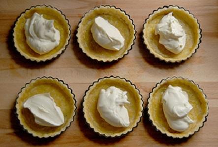 Тарталетки со сливочным сыром