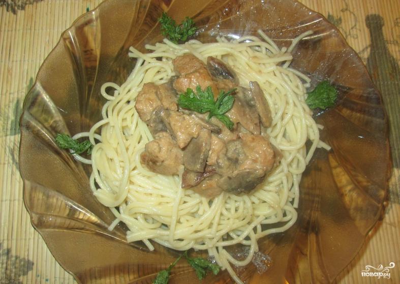 Свинина со сливками на сковороде - фото шаг 4