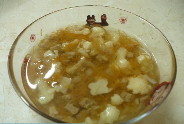 Суп с цветной капустой в мультиварке - фото шаг 4
