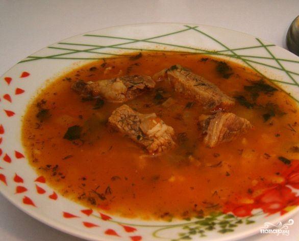 Простой суп с говядиной