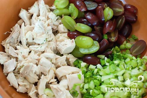 Бутерброды с куриным салатом - фото шаг 3