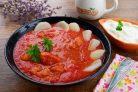 Томатная похлебка с рыбой и картофелем