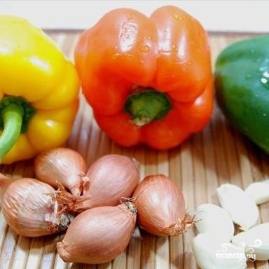 Рецепт Баранина с овощами в тажине