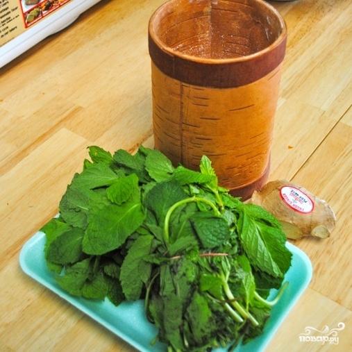 Рецепт Имбирно-мятный чай