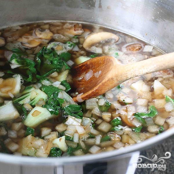 Китайский суп из говядины с лапшой - фото шаг 6