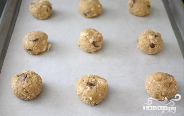 Печенье с овсяными хлопьями и шоколадом - фото шаг 6