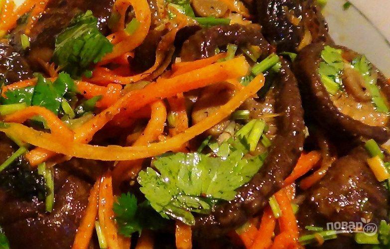 Грибы шиитаке по-корейски