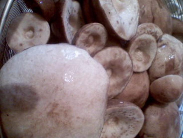 Маринованные шляпки подберезовиков - фото шаг 1