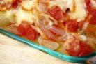 Рыба, запеченная с помидорами и сыром