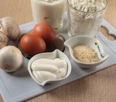 Рецепт Пирог с грибами в мультиварке