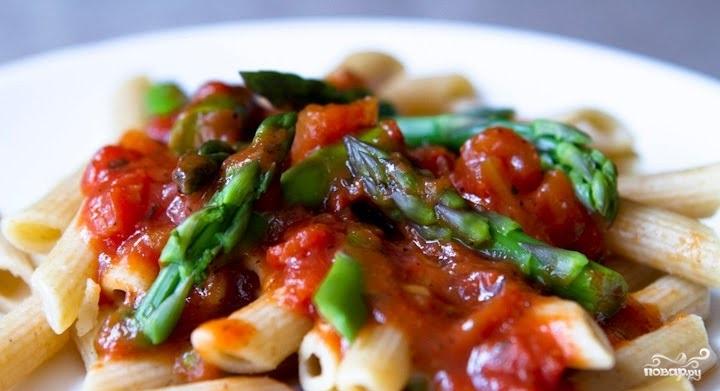 Рецепт Cпаржа в томатном соусе