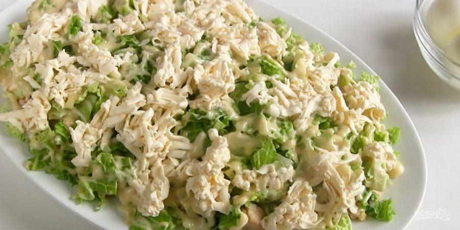 салат невеста рецепт с фото с курицей пошагово