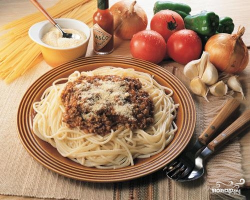 Рецепт Спагетти с фаршем