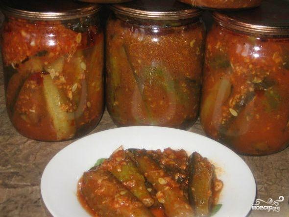 Огурцы в томатном соусе - фото шаг 4
