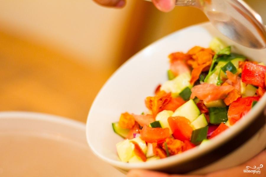 рецепт салата перец с кунжутом и арахисом