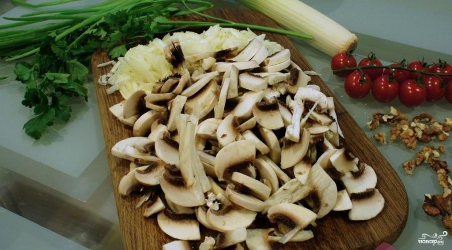 Куриный салат с грибами и сыром - фото шаг 3