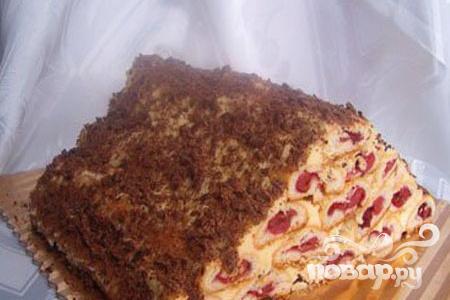 """Торт """"Монастырская изба"""" со взбитыми сливками"""