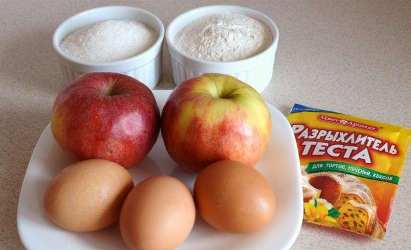 шарлотка с яблоками рецепт приготовления с рисом