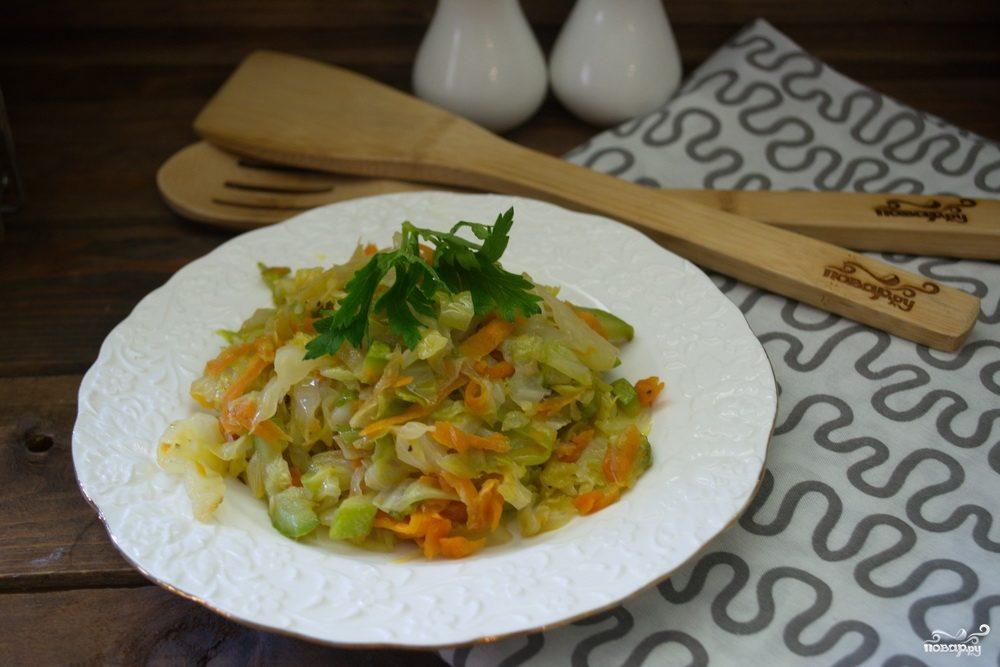 Рагу из кабачков и капусты