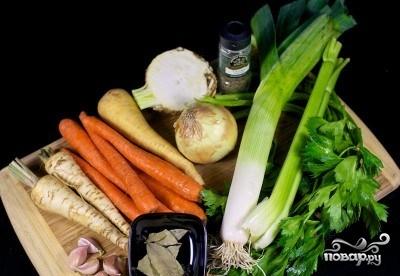 Рецепт Овощной бульон диетический