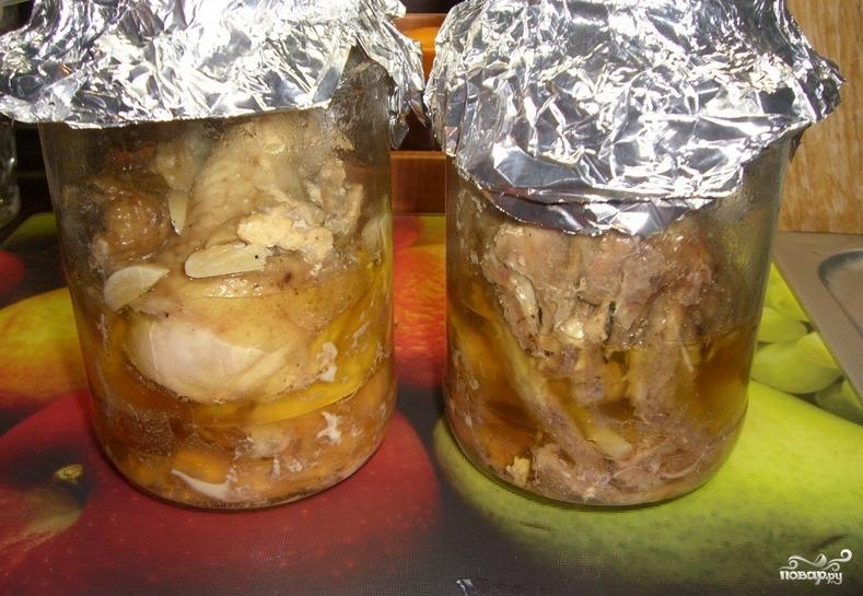 тушенка из курицы в духовке пошаговый рецепт