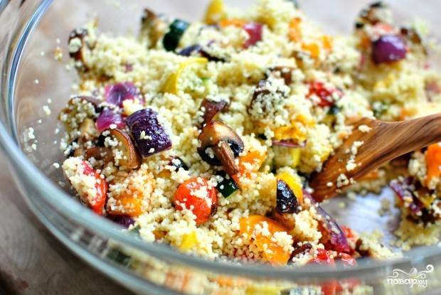 Салат из печеных овощей - фото шаг 3