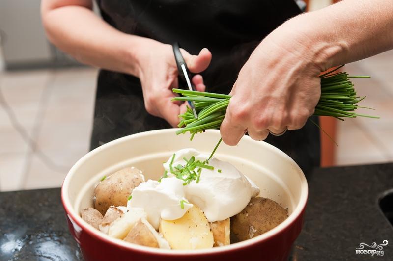 Картофельное пюре со сметаной - фото шаг 4