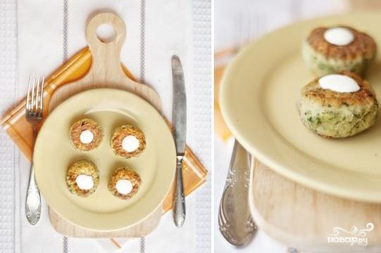 Рецепт Куриные шарики с фетой и шпинатом