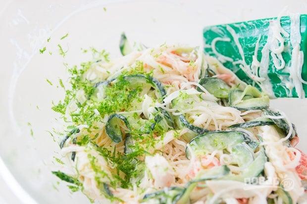 Пикантный крабовый салат