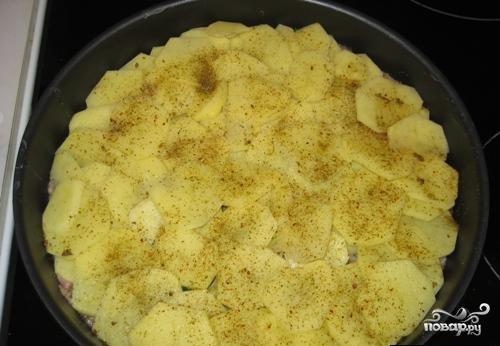 Картофель с фаршем и кабачками - фото шаг 2