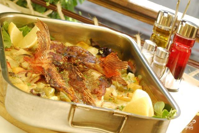 Морской окунь в духовке - фото шаг 9