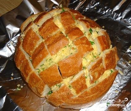 Хлеб с сыром в духовке - фото шаг 6