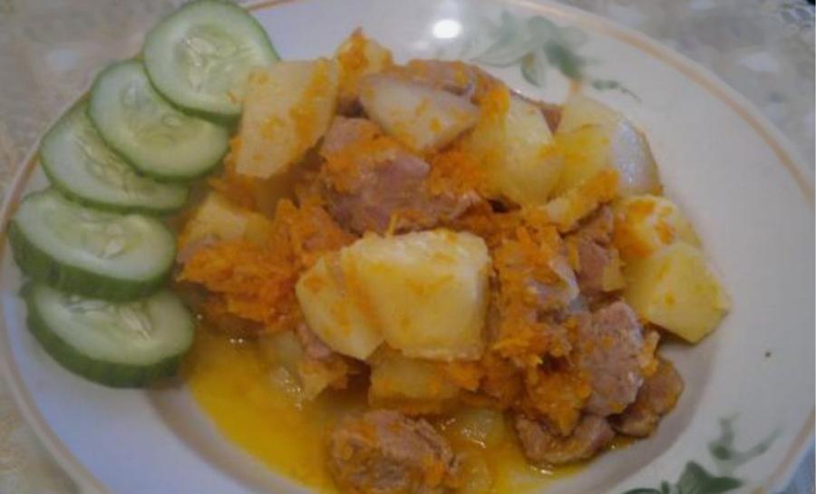 мясо с картошкой под сыром в духовке фото рецепт