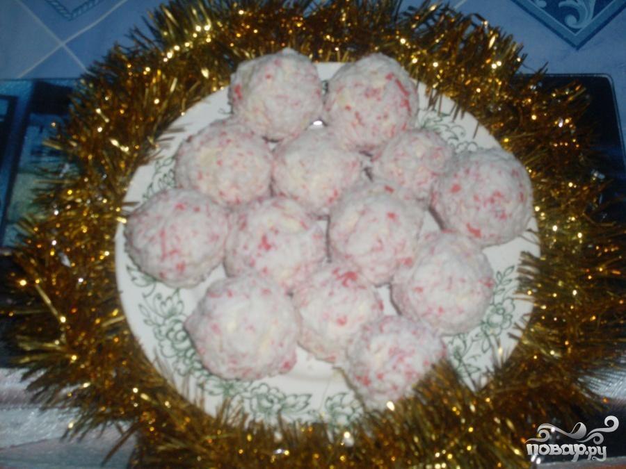 """Рецепт Новогодняя закуска """"Рафаэлло"""""""