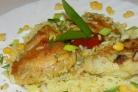 Курица в духовке с рисом