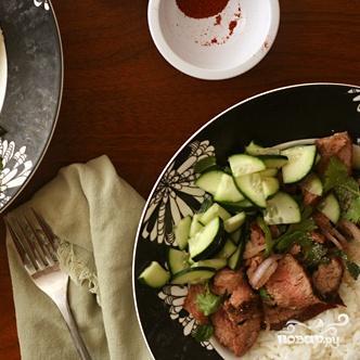 Тайский салат из говядины - фото шаг 3