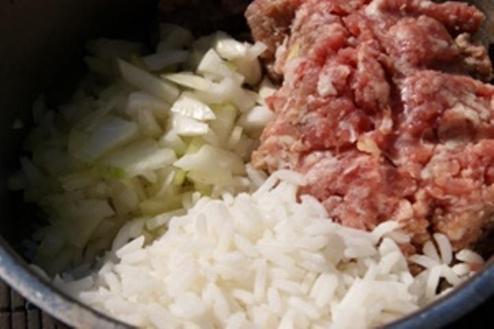 Рецепт Ежики из куриного фарша