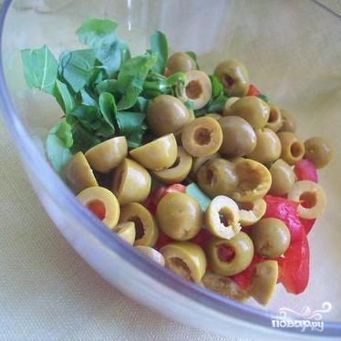 Салат с сыром фета - фото шаг 1