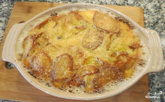 Картофельная запеканка с луком - фото шаг 3