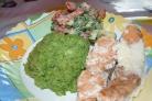 Семга с брокколи в духовке