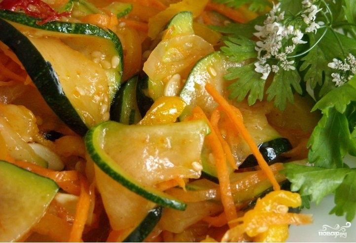 Салат по-корейски из кабачков - фото шаг 7