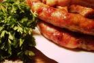 Домашняя колбаса из индейки в кишке