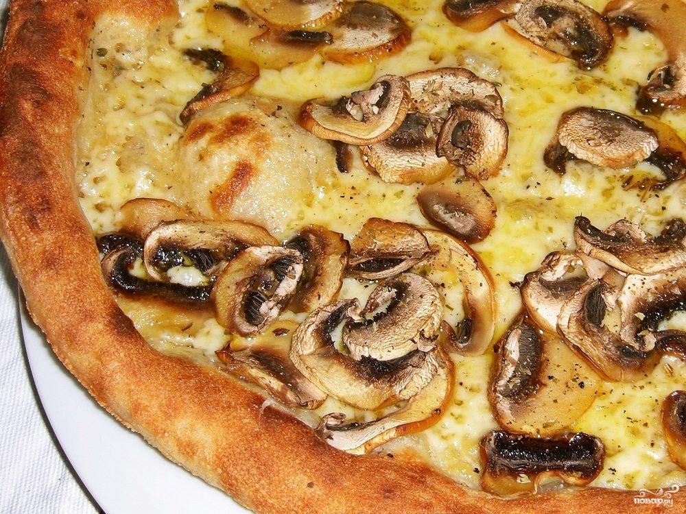Рецепт Домашняя пицца с грибами