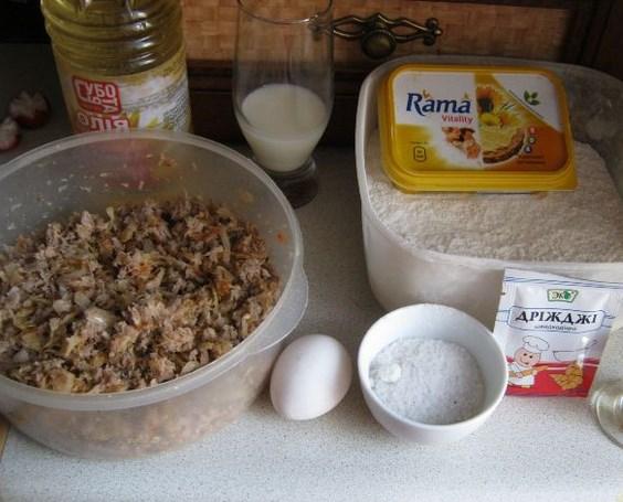Рецепт Тесто для пирога с фаршем