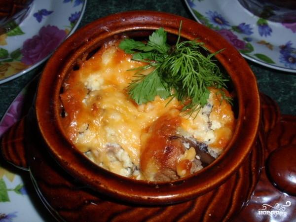Баранина в горшочках с картофелем