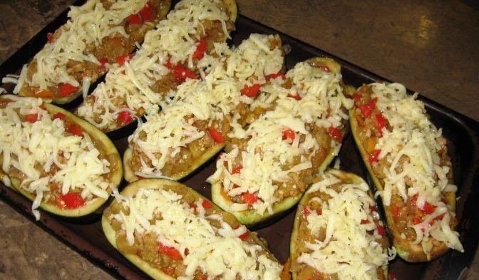 Овощные лодочки из баклажанов  - фото шаг 7